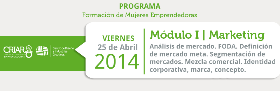 Programa de Formacio mujeres emprendedoras Marketing